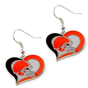 Aminco NFL Cleveland Browns Swirl Heart