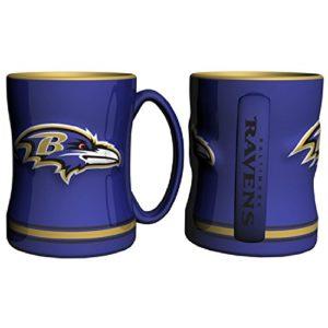 Baltimore Ravens 15 Ounce Sculpted Logo