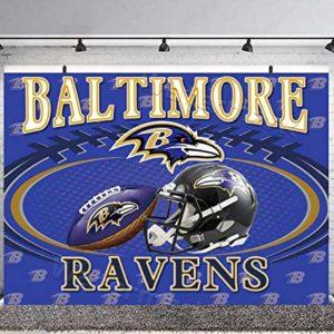 Baltimore Ravens Football Field Backdrop for