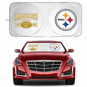 Car Sunshade for Pittsburgh Steelers 210T