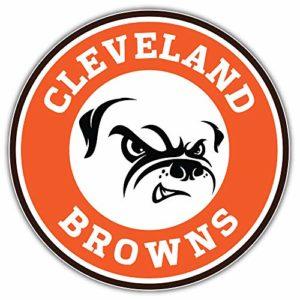 Cleveland City Brownzz Football Die-Cut Sticker