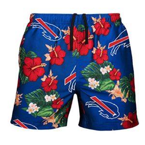 FOCO Mens Team Logo Floral Hawaiian