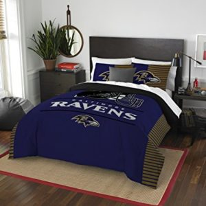 """The Northwest Company Officially Licensed NFL Baltimore Ravens """"Draft"""" Full/Queen Comforter and 2 Sham Set"""